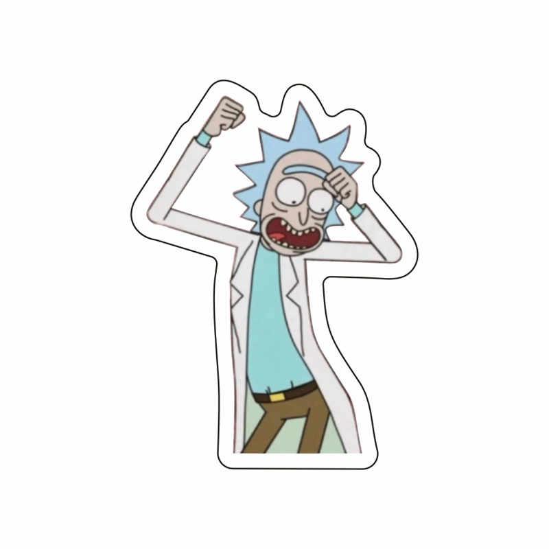 1 Pcs Baru Morty Ikon Bros untuk Dekorasi Di Pakaian Topi Ransel Rick Gambar Acrylic Lencana Pesta Ulang Tahun Anak-anak hadiah Pin