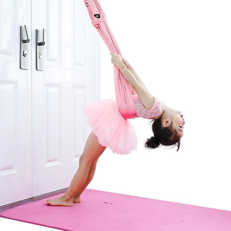 Adjustable Aerial Yoga Strap Hammock Swing Stretching Anti Gravity Inversion Exercises Multilayer Belt Door Flexibility Trainer Aliexpress