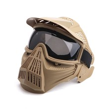 Hunting Full Face Mask Gray Lens Protect Mouth Protection Face Outdoor Sport Shooting Equipment Sportswear Accessories(China)