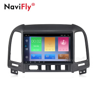 Navifly Quad Core Android9.1 2din Car Radio for Hyundai SANTA FE 2006 2012 Car multimedia gps player wifi Audio DVR RDS