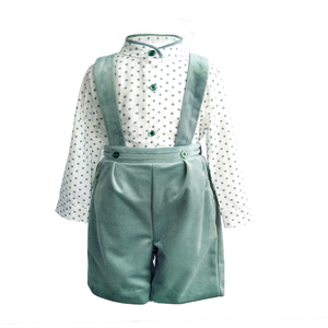 Image 2 - Baby boys Girls Clothes Set tie bow Toddler cotton romper Overalls Shorts red Lattice Summer Kids Clothing Set Infant Outfits