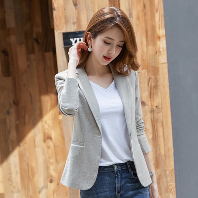 2020 Spring Autumn Korean Long Sleeve Suit Plus Size 3xl Slim Women Blazer Coats And Jackets Ladies Clothes Luxury Outerwear