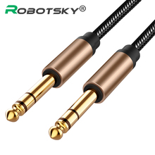 Audio-Cable Guitar Amplifier Male-To-Male Nylon Jack Aux for Mixer Braided Bass