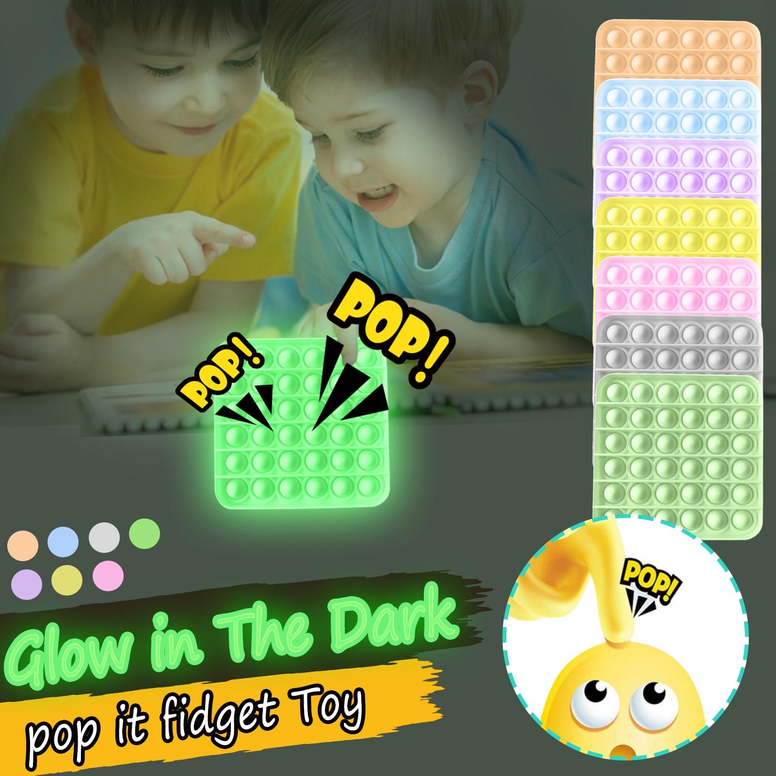 Светится в темноте пуш-ап пузырь Непоседа сенсорные игрушка для аутистов особые потребности для снятия стресса фокусом роста мягкая игрушк...