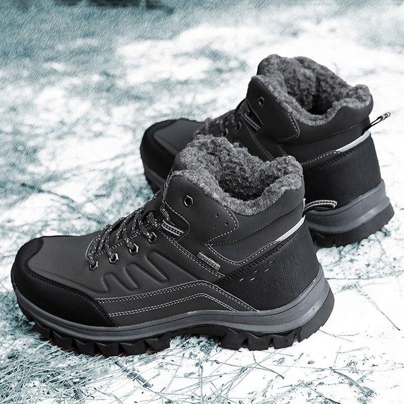 Plus Size 37-47 Men Boots Winter Warm Snow Boots Ankle Booties Man High Quality Booties Male Sneakers Shoes Tenis Masculino