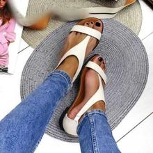 BLWBYL summer beach plus size flats sandals casual shoes wom