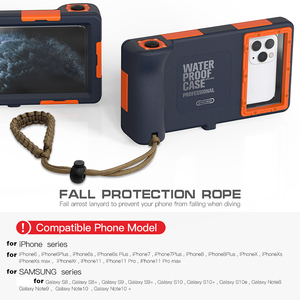 Image 5 - Caso de mergulho à prova dwaterproof água para iphone se 2020 12 11 pro max x 10 xs xr 7 8 6s underwater proteger caso do telefone para samsung nota 10 +