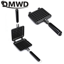 DMWD Household Cake Waffle Mould Mold Non-stick Press Plate Kitchen Gas Sandwich Egg Waffle Maker Pan Breakfast Iron Baking Tool