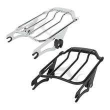 Motorcycle Detachable 2-Up Air Wing Luggage Rack For Harley Touring Road King Street Glide 2009-2019