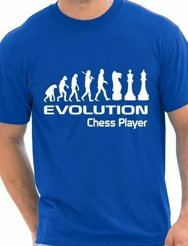 Evolution Of Chess Player Funny Adult Mens T-Shirt Birthday Gift Size S-XXL image
