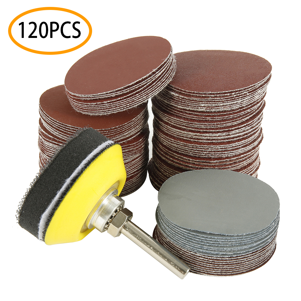 120pcs 2 Inch Sanding Discs Polishing Pad Drill Grinder Rotary Tools Includes 10-3000 Grit  Rotary Tool Accessories