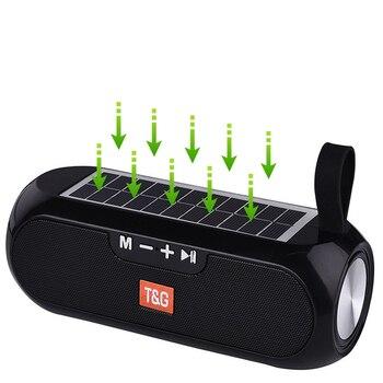 Altavoz Bluetooth de carga Solar, altavoz estéreo inalámbrico de columna portátil, altavoz...
