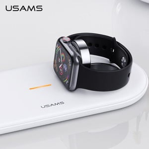Image 4 - USAMS 3 in 1 Qi Wireless Charger สำหรับ iPhone X XS MAX XR 8 Fast Wireless CHARGING Pad สำหรับ Airpods 2019 Apple 5 4 3 2 1