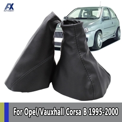 Couro engrenagem do freio de mão gaiter shift gaitor capa para opel/vauxhall corsa b/astra f/combo acessórios decoração automóvel