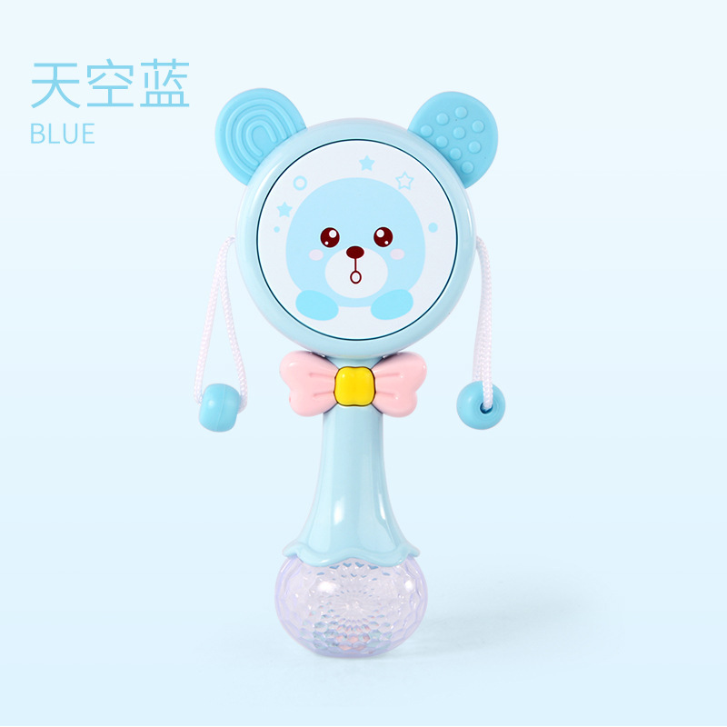 Teether Rattle Baby Toys Teether Rattle-Bite 0-1-Year-Old Baby Cute Music Sand Hammer Rod