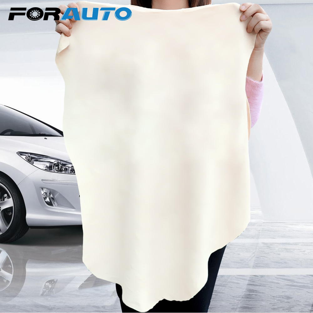 FORAUTO Car Wash Towel Washing Suede Car Cleaning Cloth 5 Size Absorbent Quick Dry Towel Natural Chamois Leather Genuine Leather