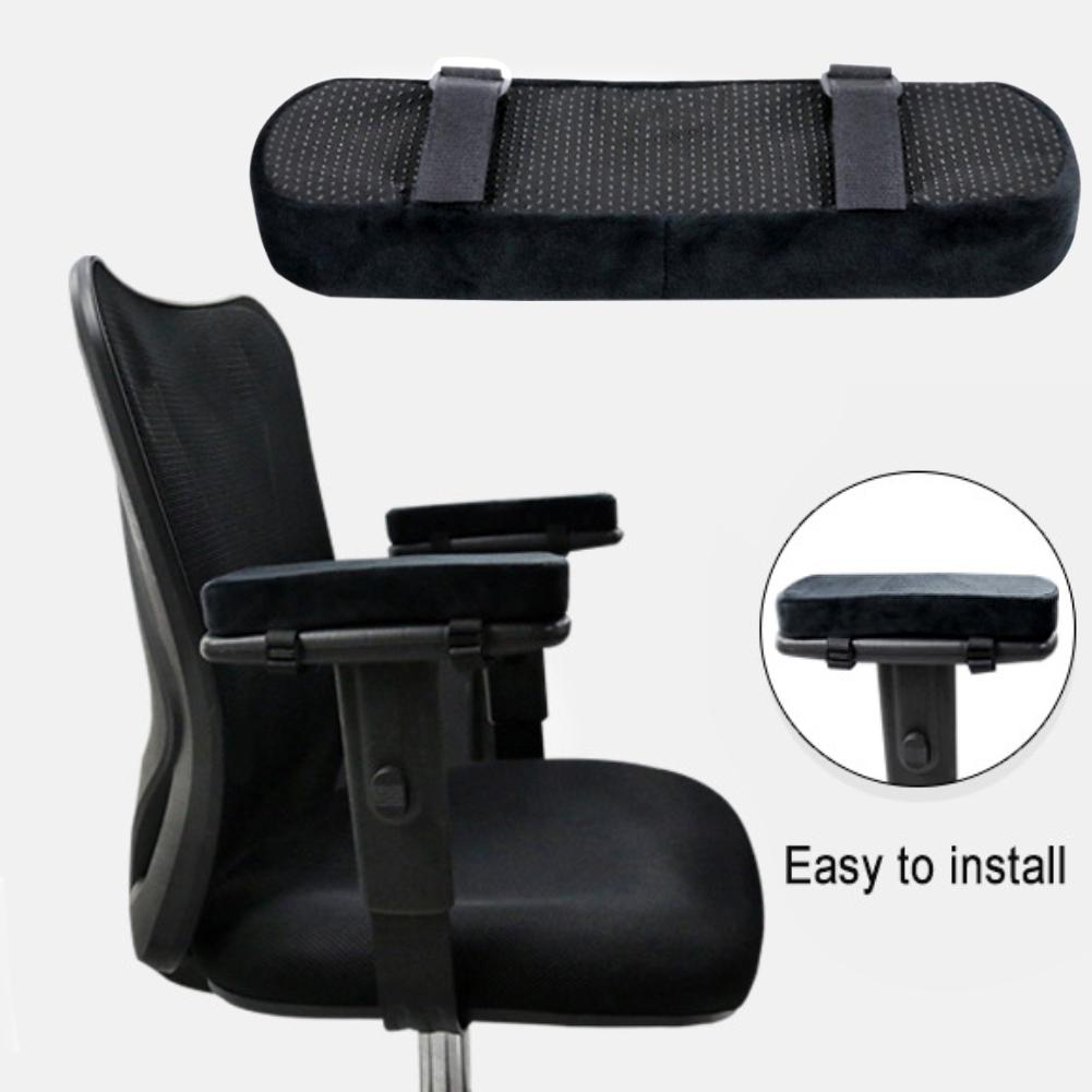 Memory Foam Chair Armrest Pads Elbow Pillow Support Arm Rest Covers For Office Chair Armrest Chair Cushion Pads Elbow Relief