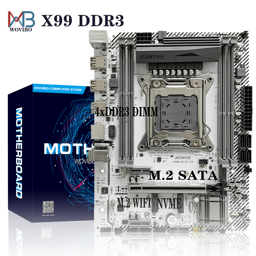 X99 Motherboard LGA 2011 3 DDR3 REG ECC M.2 NVME WIFI Turbo Boost For Intel LGA2011 V3 I7 Xeon E5 CPU Computer Placa Mae|Motherboards| - AliExpress
