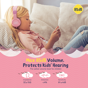 Image 2 - Mpow CH1S السلكية الاطفال سماعات مع هيئة التصنيع العسكري لطيف 85DB حجم محدود حماية السمع على سماعات أذن للأطفال الفتيات الفتيان