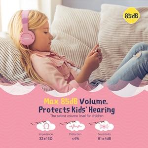 Image 2 - Mpow CH1S przewodowe słuchawki z mikrofonem dla dzieci śliczne 85DB objętość ograniczona ochrona słuchu słuchawki douszne dla dzieci dziewczyny chłopcy