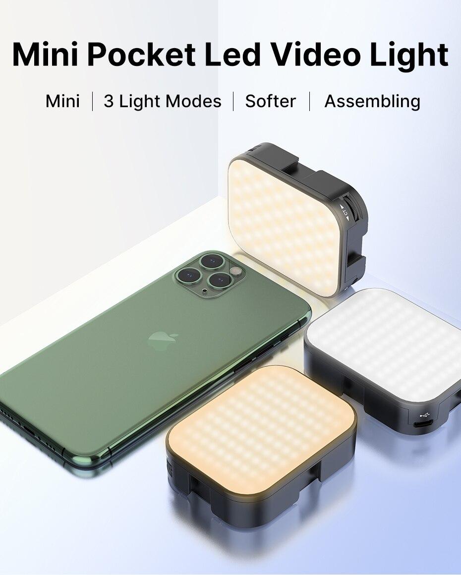 Ulanzi vijim vl 100c мягкий светодиодный vlog светильник с регулируемой
