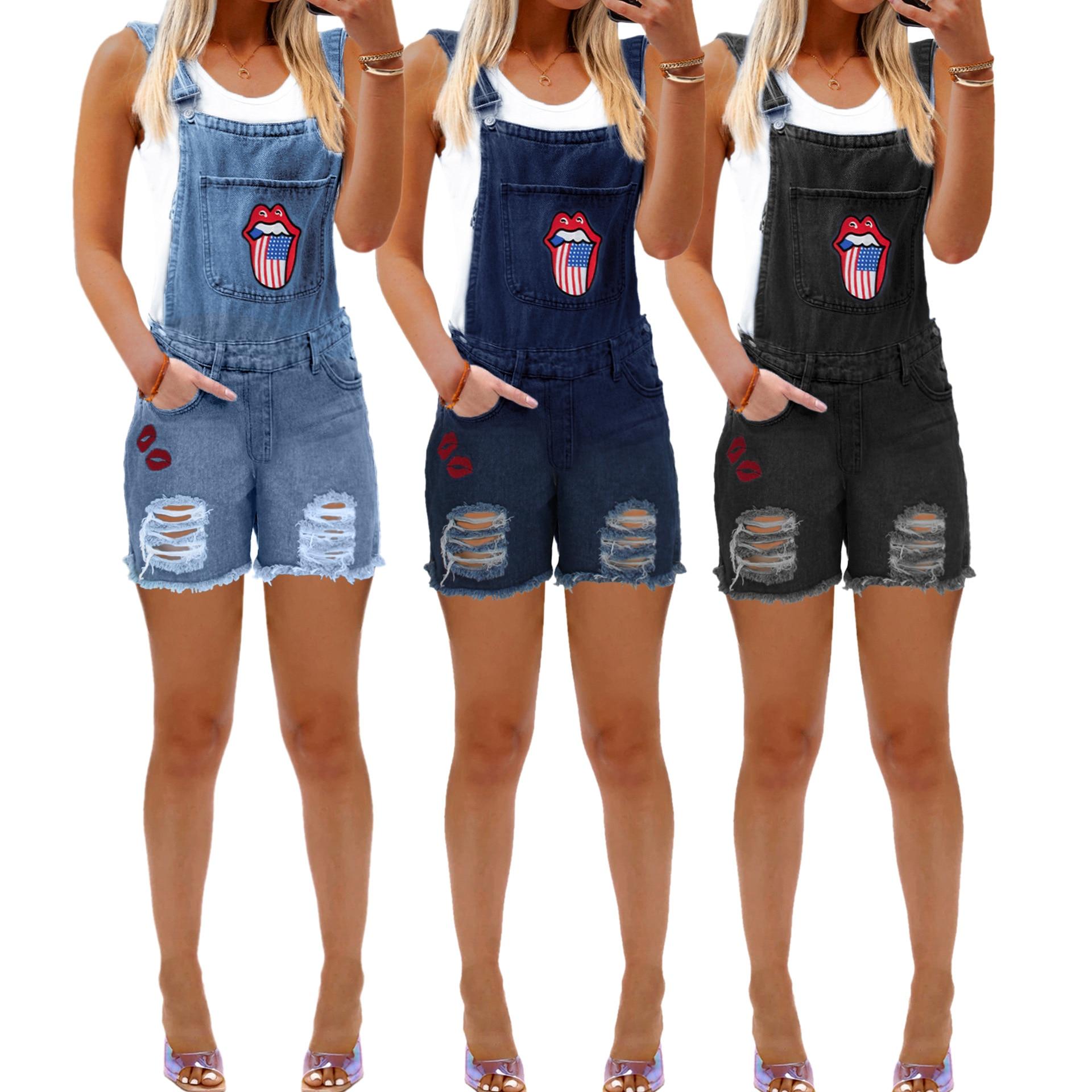 Women's Bib Leggings, Ripped Jeans for Women 1