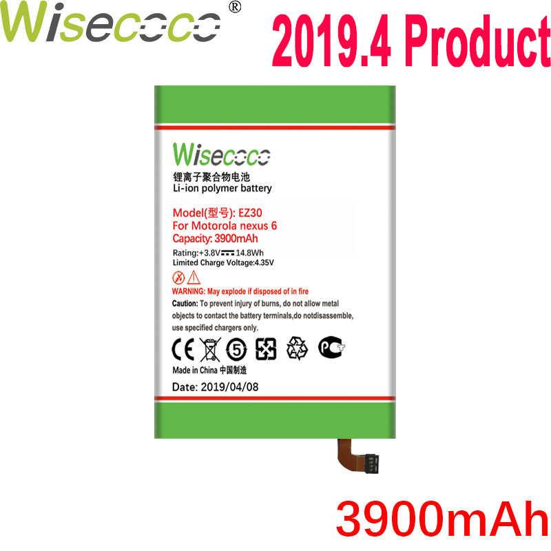 WISECOCO 3900mAh EZ30 แบตเตอรี่สำหรับ Motorola Moto Nexus 6 Google XT1115 XT1110 XT1103 Nexus 6 โทรศัพท์คุณภาพสูงแบตเตอรี่