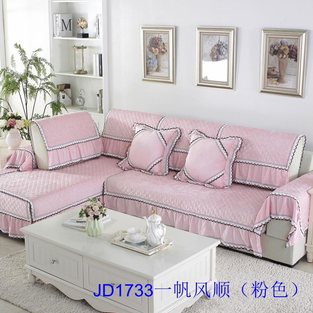 Brocade dun Autumn And Winter New Style Chenille Plush Sofa Cushion Modern Minimalist Anti-slip Seat Cushion Sofa Slipcover Case