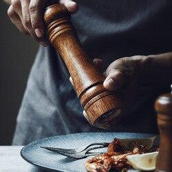 Malowany rynek drewniany pieprz sezamowy sól morska pieprz czarny młynek do pieprzu fotografia strzał umieścić rekwizyty narzędzia kuchenne w Środki do czyszczenia wnętrza pralek od Dom i ogród na