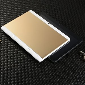 KT107 Round Hole Tablet 10.1 Inch Large Screen Android 8.10 Version Fashion Portable Tablet Gold Tablet Gold US Plug
