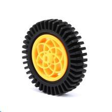 2pcs 80mm De DiâMetro Borracha TT Volante Do Motor/Volante/Carro Inteligente Roda/Roda Chama Para Robot DIY AcessóRio Do Carro