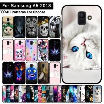 Funda para Samsung de teléfono Galaxy A6 2018, funda protectora de TPU suave para Samsung Galaxy A6 2018, carcasa de silicona, Fundas Coque