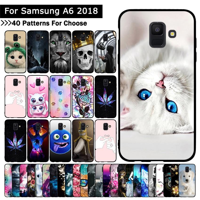 Phone Case For Samsung Galaxy A6 2018 Protective Cover Soft TPU for Samsung Galaxy A6 2018 Case Slicone Shells Coque Fundas