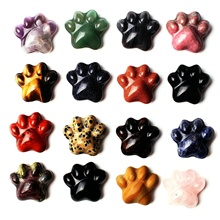 1PC Natural Crystal Pendant Cat Claw Pad Meat Ball Shaped Figurine Ornament Healing Cute gift