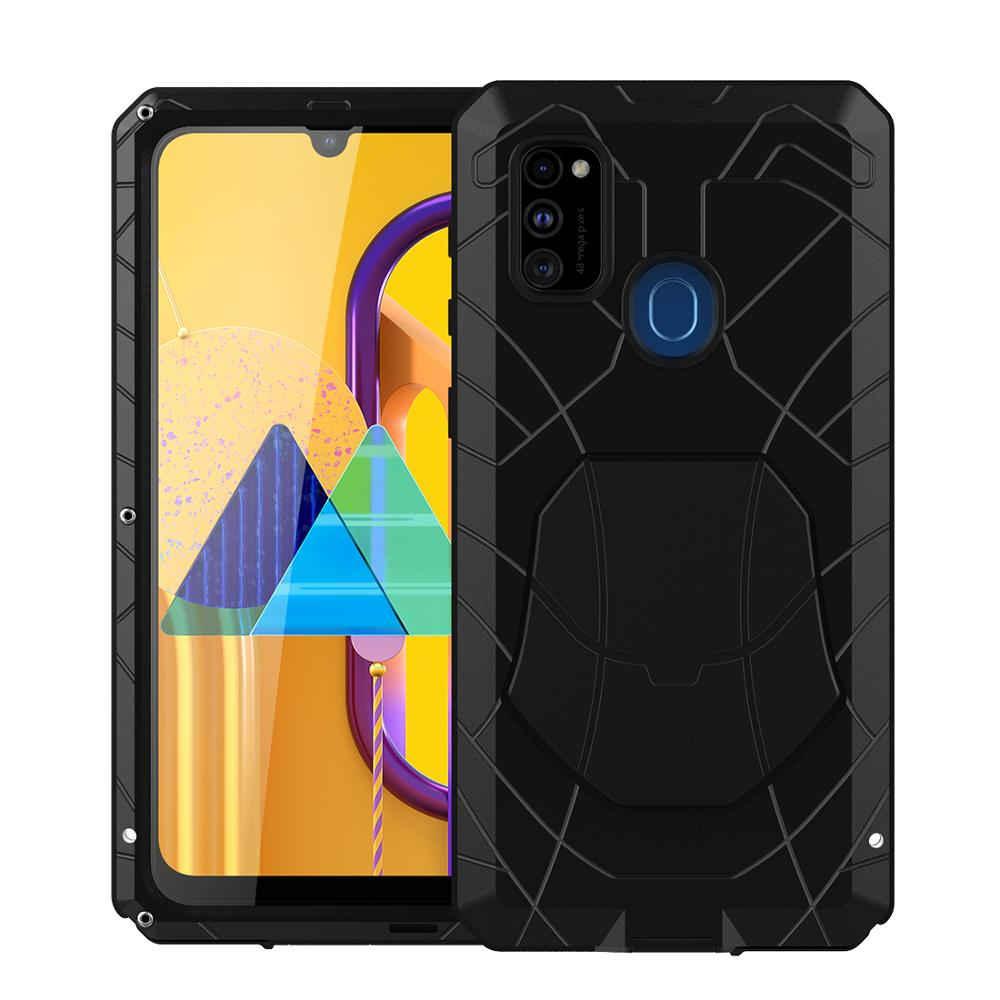 Phone <font><b>Case</b></font> For <font><b>Samsung</b></font> Galaxy <font><b>M30s</b></font> Hard Aluminum Metal Tempered <font><b>Glass</b></font> Screen Protector Cover For <font><b>M30S</b></font> Heavy Duty Protection image