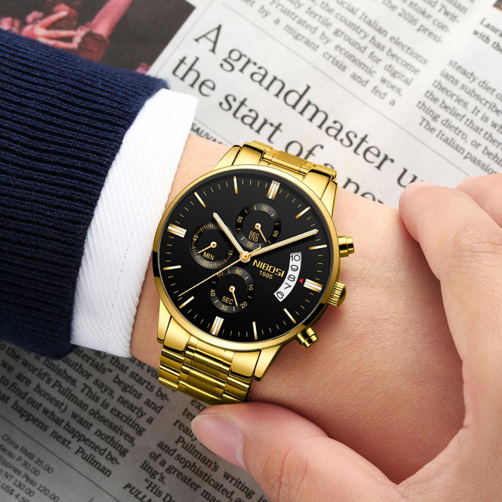 Relogio Masculino NIBOSI Men Watches Famous Top Brand Luxury Men's Fashion Casual Dress Watch Military Quartz Wristwatches Saat