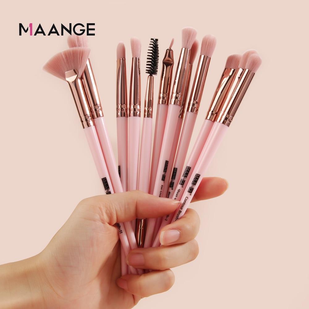 MAANGE Pro 3/5/12 Pcs Makeup Brushes Set Eyeshadow Eyeliner Eyelash Eyebrow Brush Beauty Make up Blending Tools Maquiagem 2