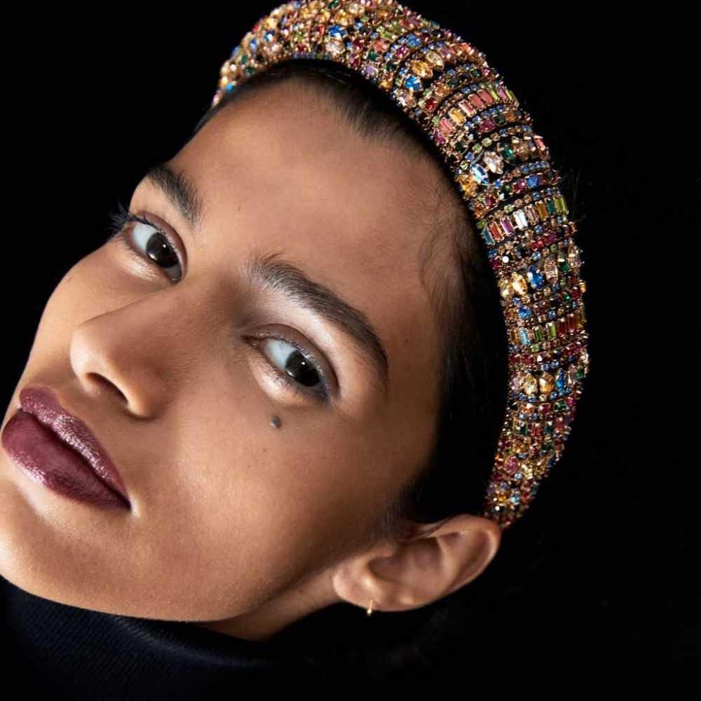 Bunte Kristall Haarbänder Strass Padded Stirnband Party Hochzeit Haar Hoop Für Frauen Mädchen Haar Zubehör Kopfschmuck Geschenke