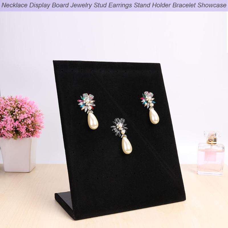 Flannel Jewelry Box Jewelry Display Earrings Stud Necklace Pendant Storage Showcase Rack Stand Holder Bracelet Showcase