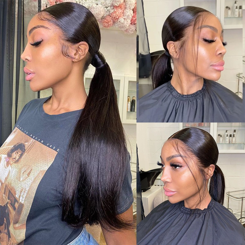 Full 360 Lace Wigs Straight HD Lace Frontal Wig 4