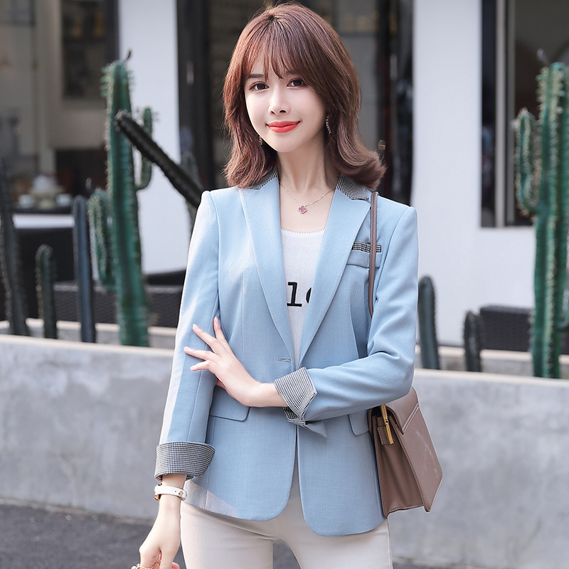 2020 new casual women's jacket small suit Casual professional slim ladies blazer Office sales overalls Business suit Female