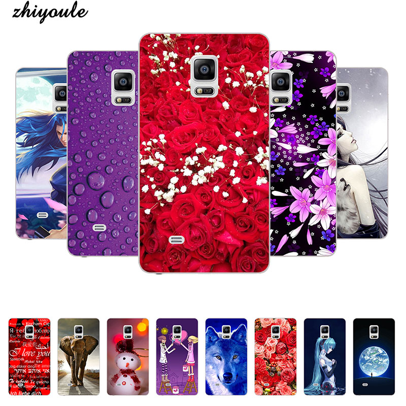 Lovely Cartoon Phone <font><b>Case</b></font> For Samsung Galaxy Note Edge N9150 <font><b>N915</b></font> SM-N915f N915A N915FY Animal Cat Pattern Cover Printed Coque image