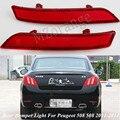 Stoßstange hinten Licht Für Peugeot 508 2011 2012 2013 2014 Hinten Reflektor Bar Warnung Signal Stopp Nebel Lampe Rücklicht Auto zubehör