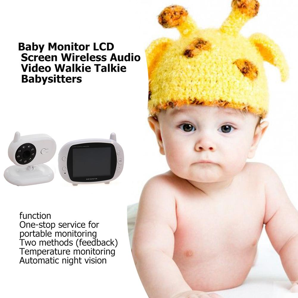 Baby Monitor LCD Screen Wireless Audio Video Walkie Talkie Babysitters Baby Care Monitor Record Baby Life Accessory