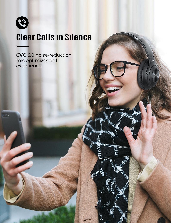 Mpow H21Hybrid Attiva Del Rumore Che Annulla Cuffia Senza Fili di Bluetooth 5.0 Cuffie di Musica 40 H Tempo di Gioco Cvc 6.0 per Il Iphone 11 Xiaomi - 4