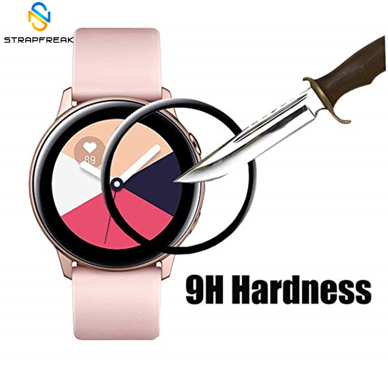 2pcs For Samsung Galaxy Watch Active PET Soft Full Screen Protector Protective Film Guard Anti Explosion Anti-shatter