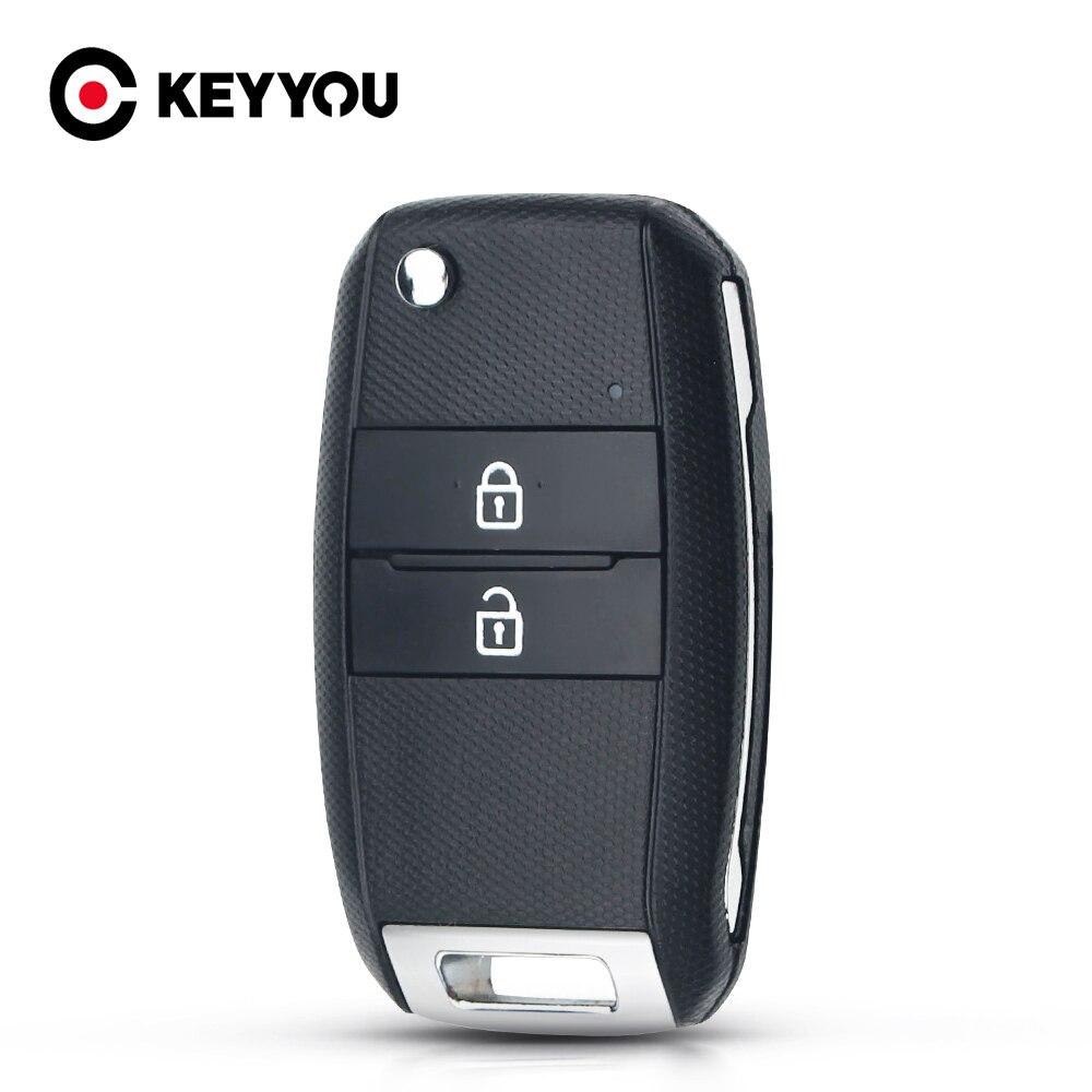 Чехол KEYYOU для дистанционного ключа Kia Sorento Carens с 2 кнопками, чехол-накладка, Новый складной чехол-раскладушка без ключа HY18R