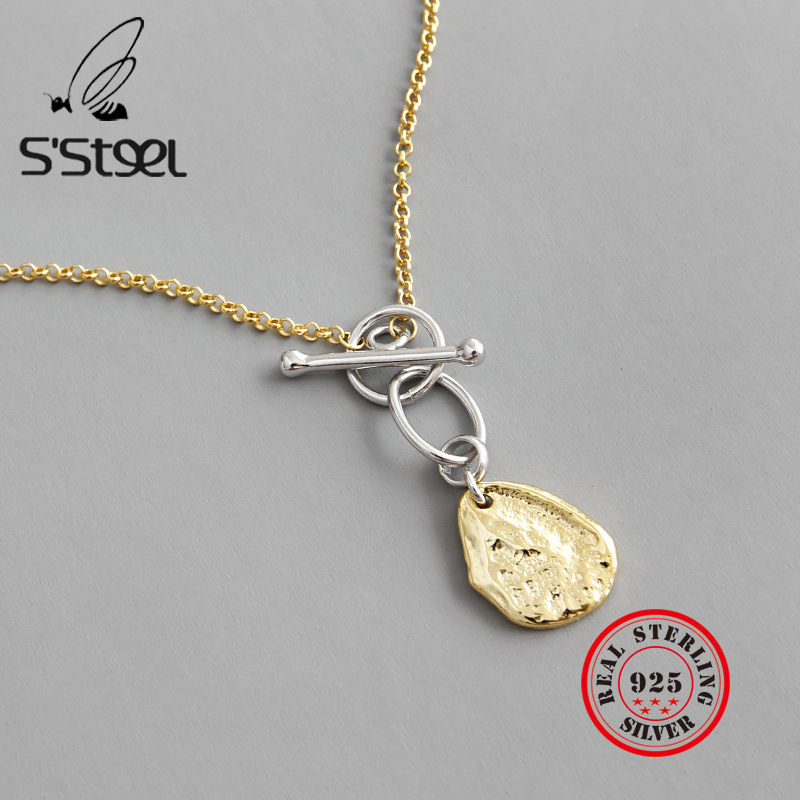 S'STEEL 925 Sterling Silver Pendants Necklaces Statement Necklace Regalos Para Mujer Luxury Designer Jewelry For Women Sieraden