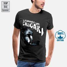 Erkek siyah T Shirt dolabı Dr Caligari sessiz Film korku kült Goth S 5Xl
