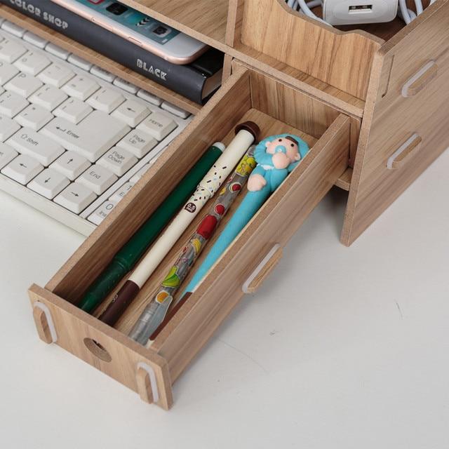 Business Office Furniture Laptop Desk Multi-function Desktop Wood Shelf